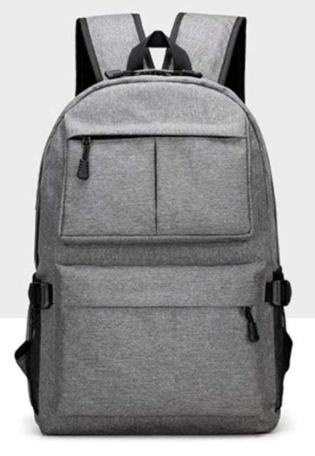 Nylon Backpack Grey Front