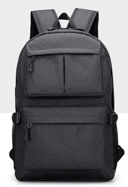 Nylon Backpack Black Front
