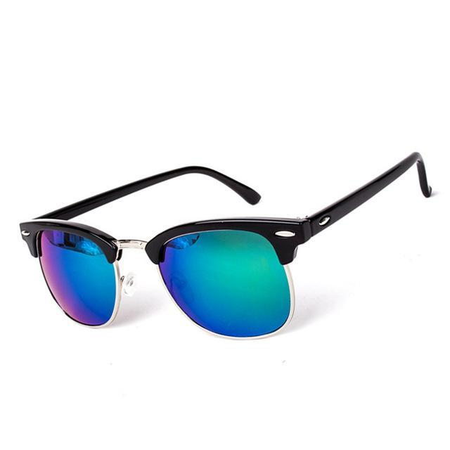 Half-Metal Sunglasses Black Green
