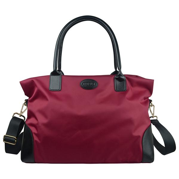 Nylon Weekend Travel Bag Red