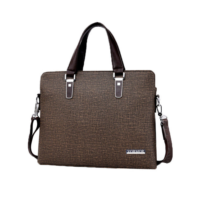 Business Briefcase Brown With Shoulder Strap
