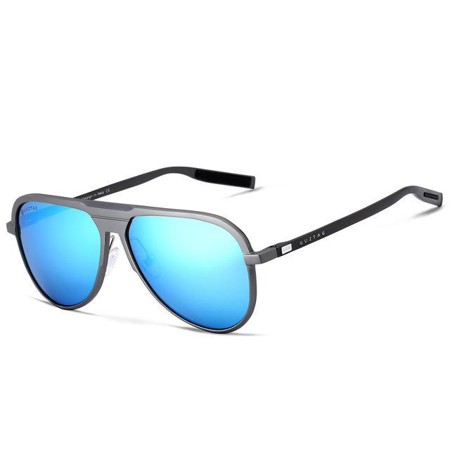 Aluminum Sunglasses Blue Lenses