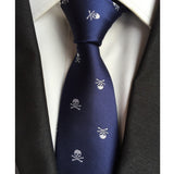 Men's Skull Neck Tie Navy Knot