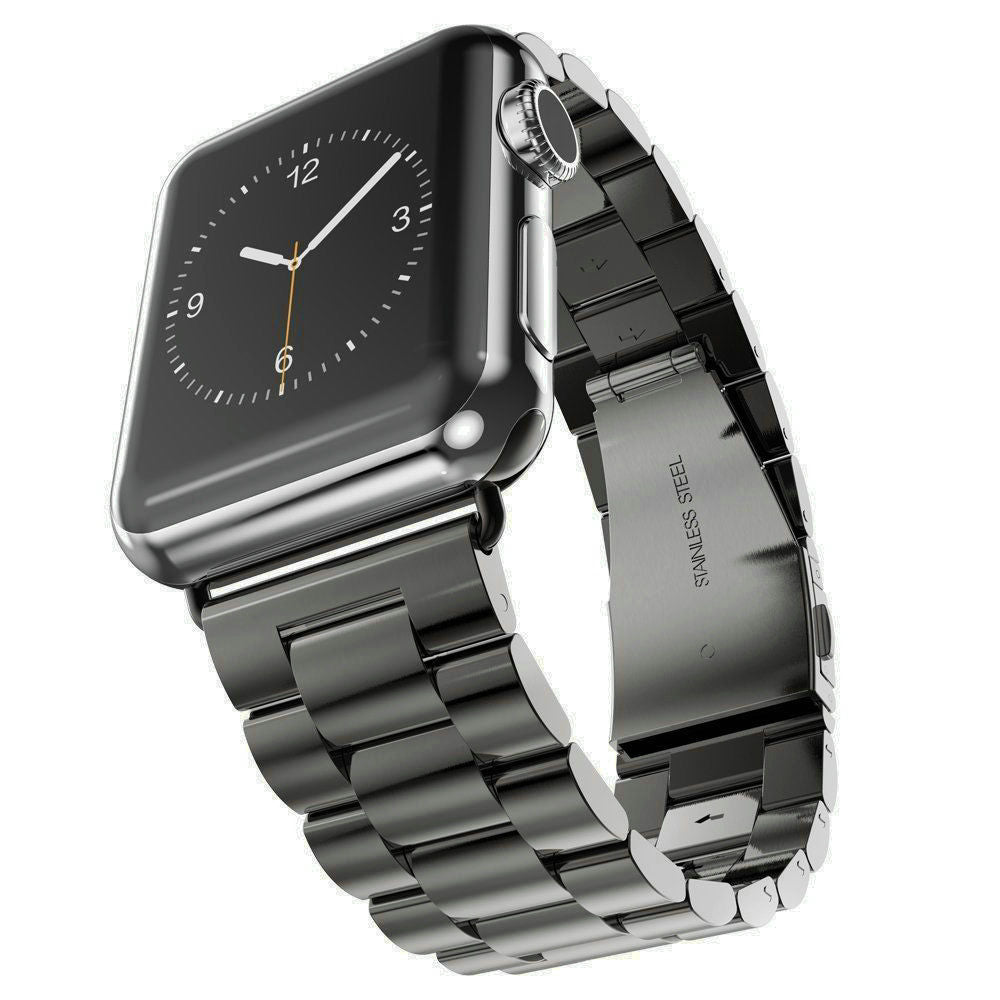 Stainless Steel Band for Apple Watch, 38MM, 42MM Black