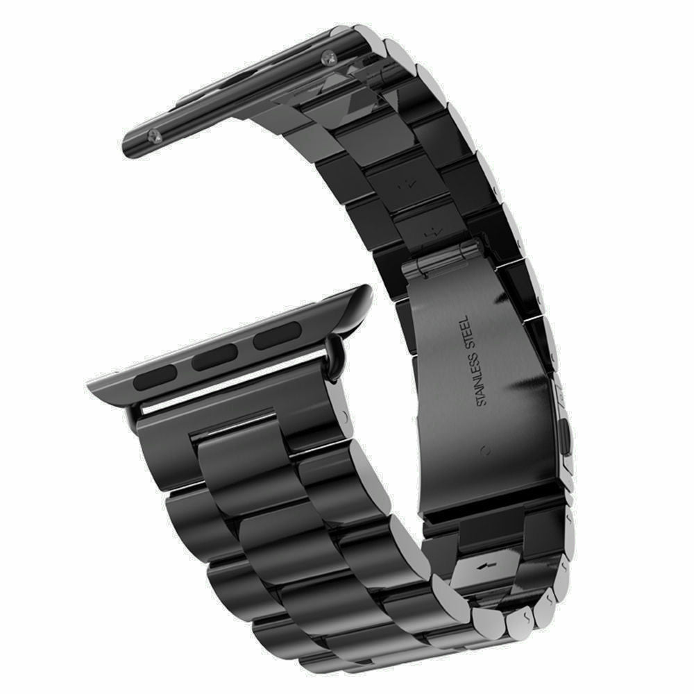 Stainless Steel Band for Apple Watch, 38MM, 42MM Black Band