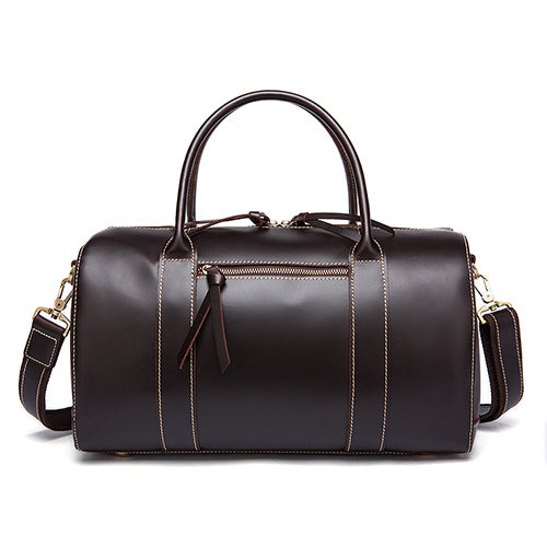 Genuine Leather Travel Bag Chocolate