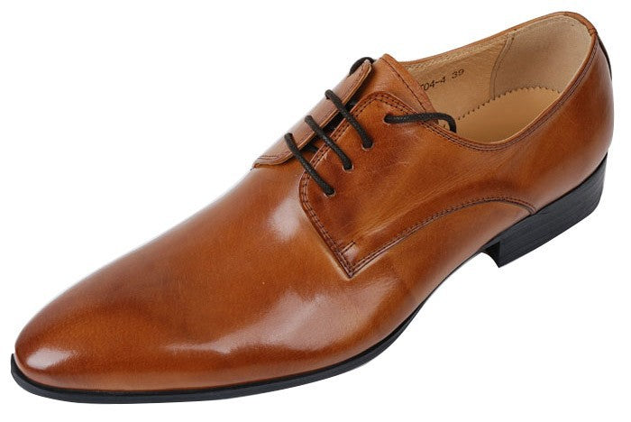 cognac genuine leather dress shoes