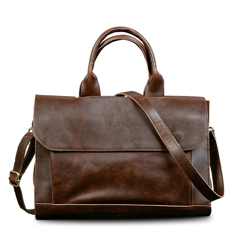 Casual Laptop Briefcase Brown