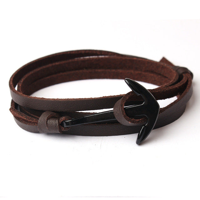 Wrap Anchor Bracelet Brown
