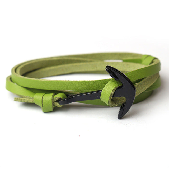 Wrap Anchor Bracelet Green