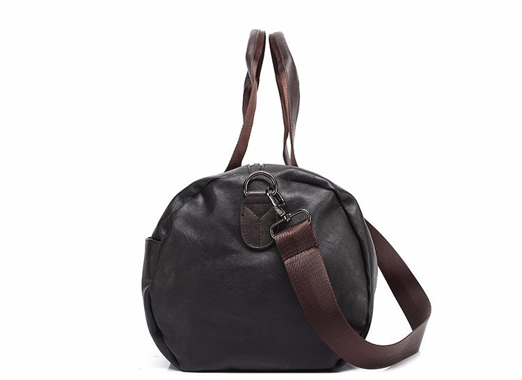Soft Duffle Brown Black Side