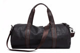 Soft Duffle Brown Black With Shoulder Strap