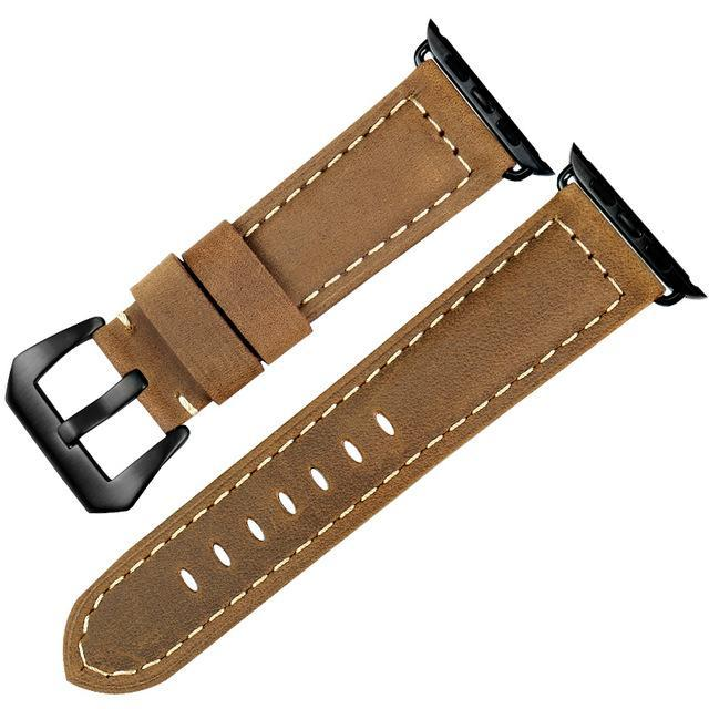 Genuine Leather Watch Band For Apple Watch, 38MM Brown