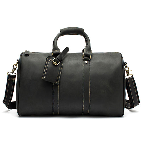 Leather Weekend Duffle Black