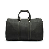 Leather Weekend Duffle Black Back