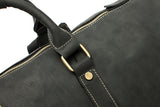 Leather Weekend Duffle Black Handle Detail