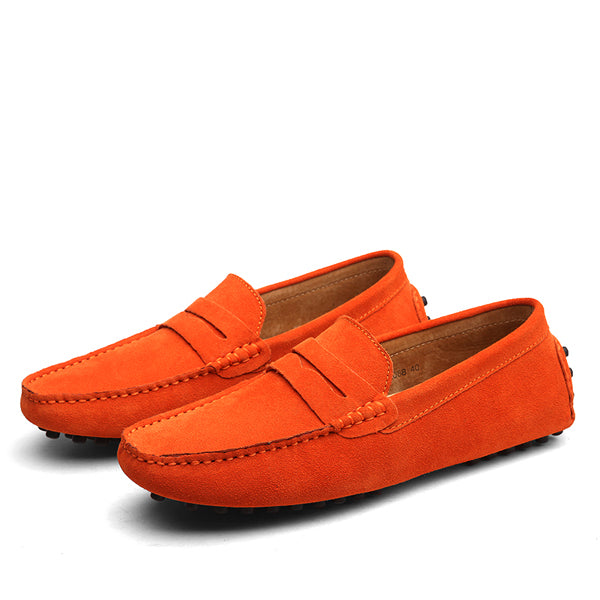Suede Slip-Ons Orange