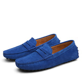 Suede Slip-Ons Royal Blue