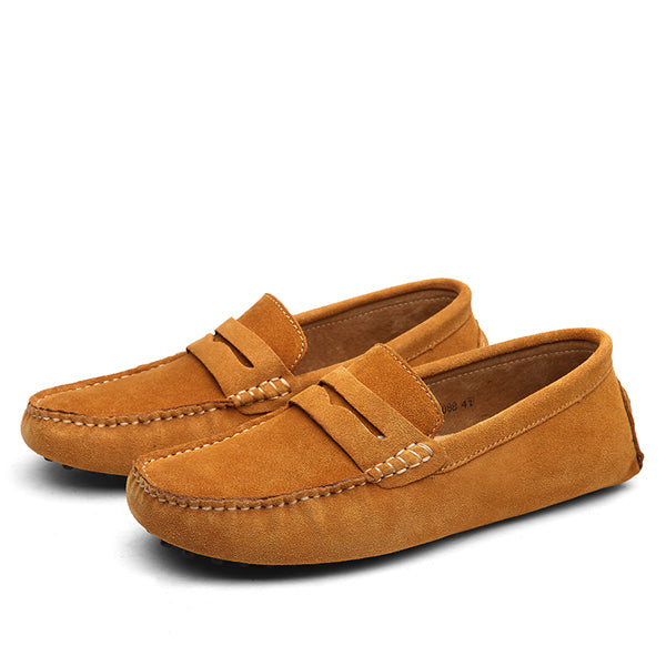 Suede Slip-Ons Light Brown