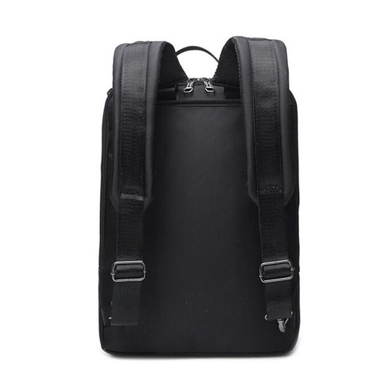 2-In-1 Laptop Briefcase Convertible Backpack Black Shoulder Straps Backpack View