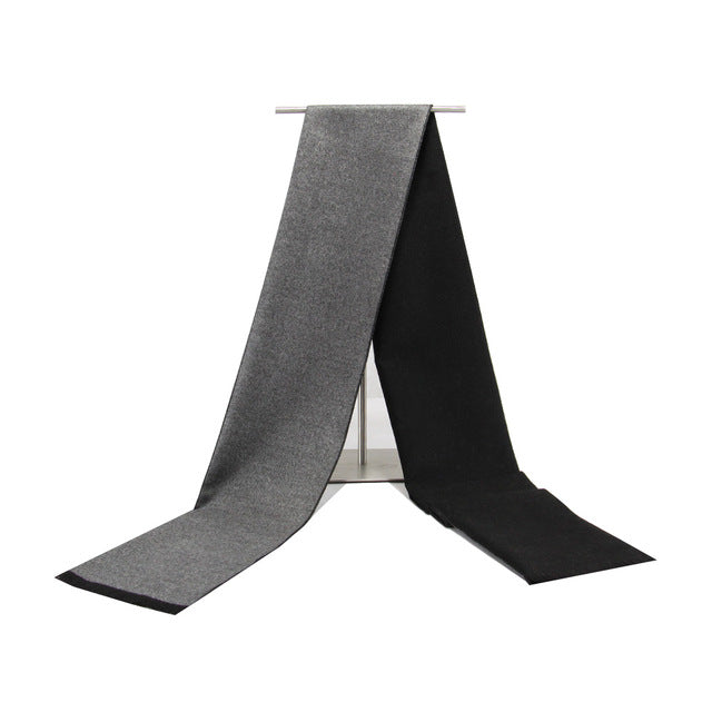 Men's Cashmere Scarf Black/Grey