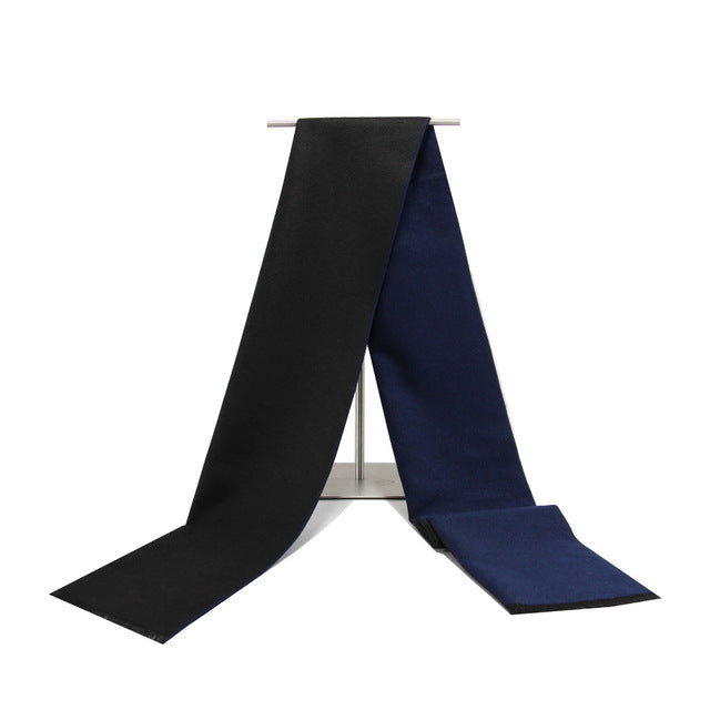 Men's Cashmere Scarf Black/Blue