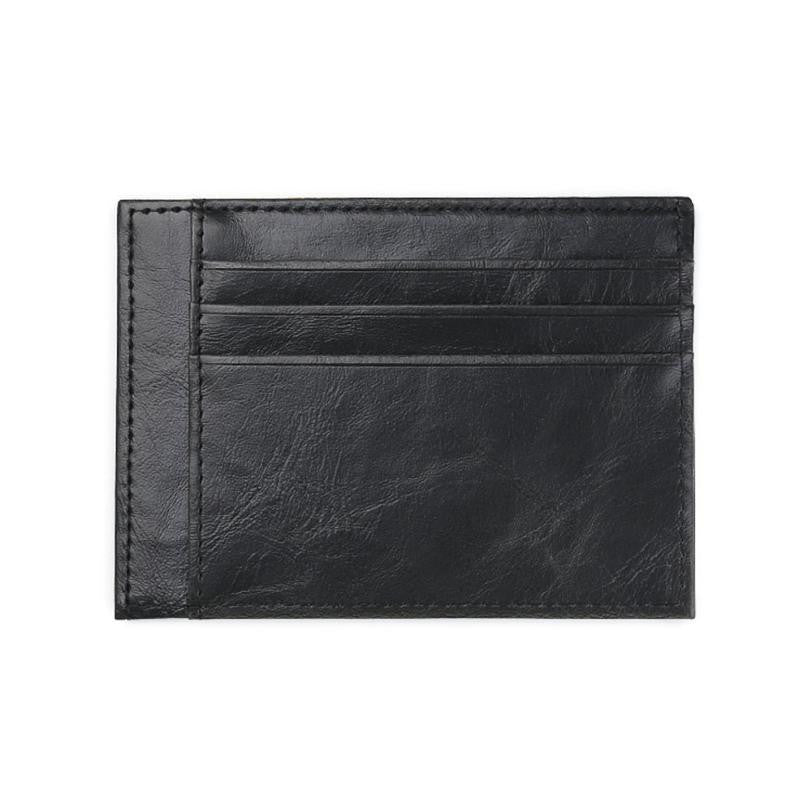 Men's Card Case Black Back