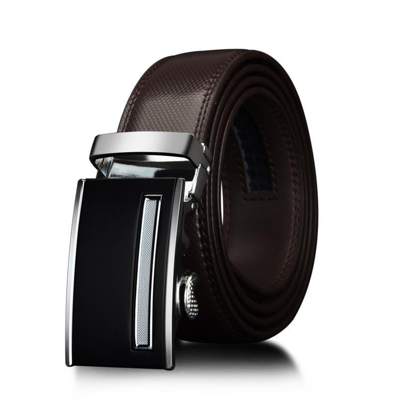 3.5cm Men's Genuine Leather Belt Brown
