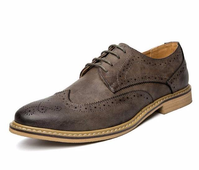 Wingtip Oxfords Grey