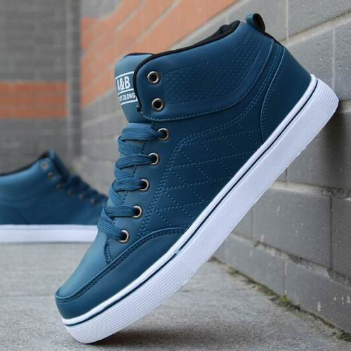 High-Top Sneakers Blue