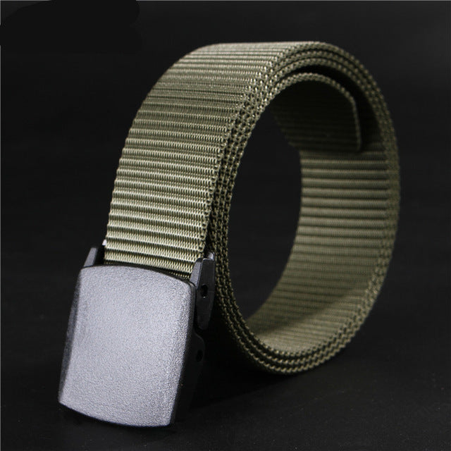 3.8cm Men's Nylon Belt Army Green