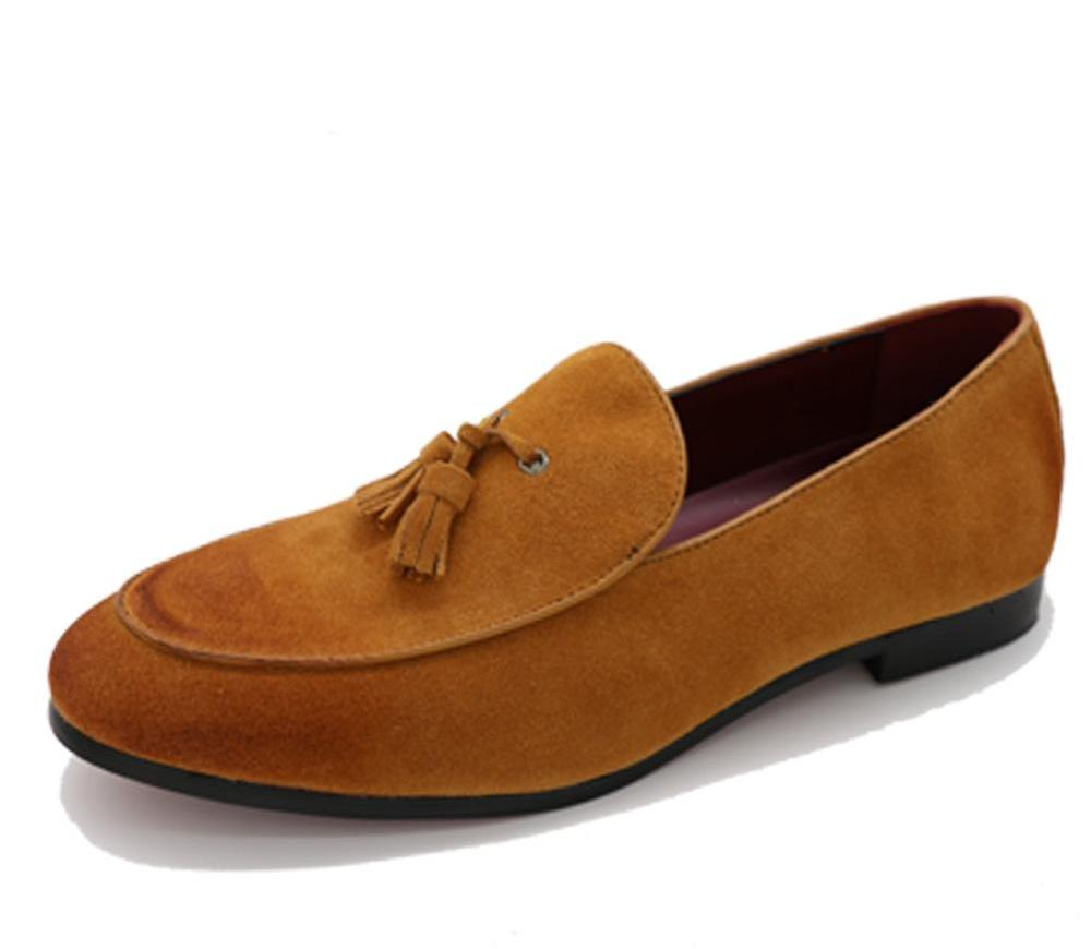 LEATHER TASSEL SLIP-ON