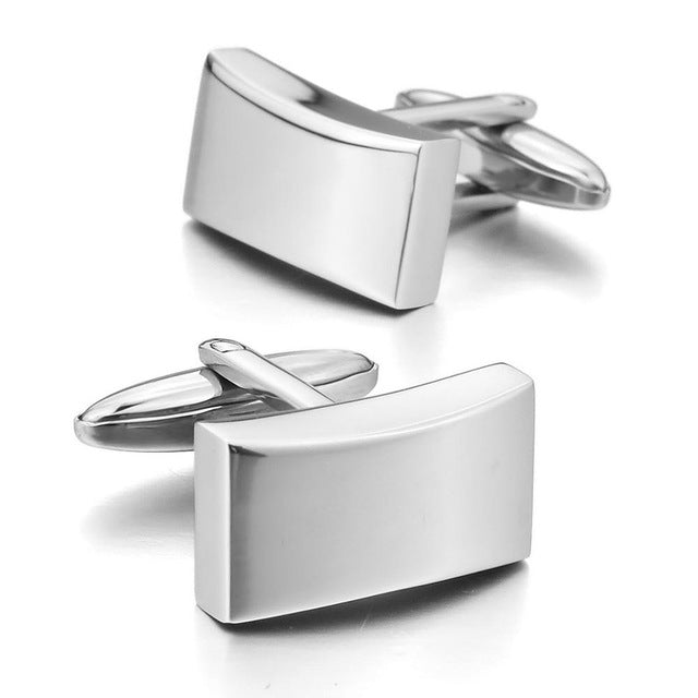 Men's Stainless Steel Cufflinks Silver