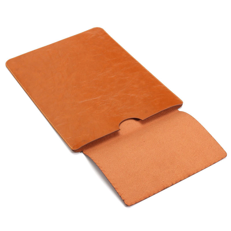 Laptop Sleeve Tan With Fold Out Mouse Pad