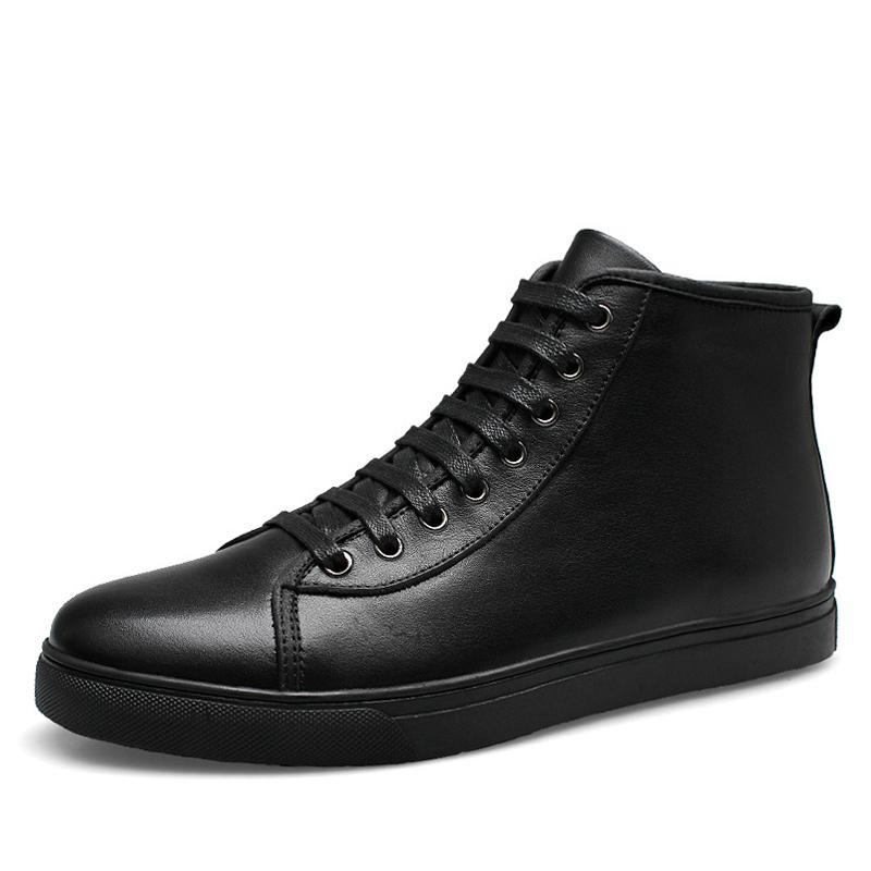 Leather High-Tops Black