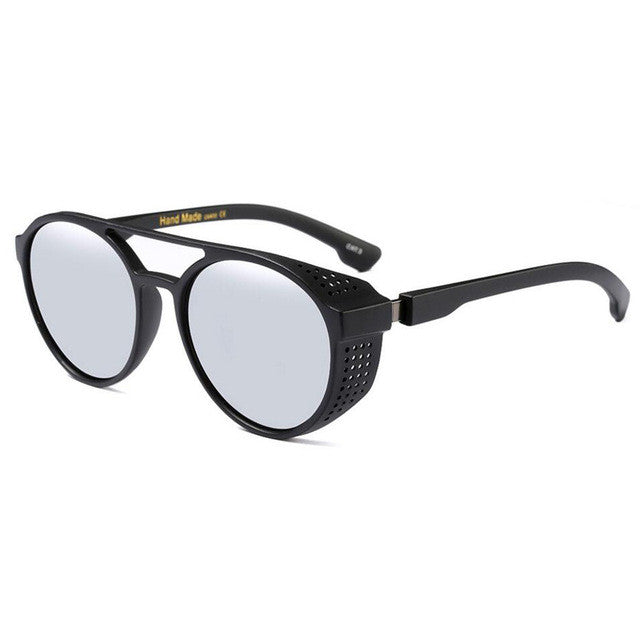 Goggle Sunglasses Black With White Lenses