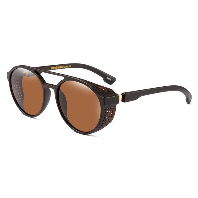 Goggle Sunglasses Brown With Brown Lenses