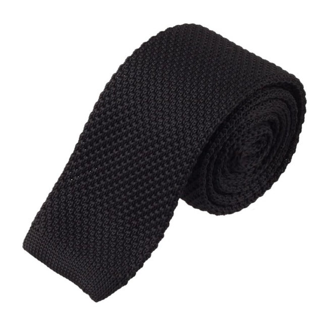 Men's Knit Tie Black