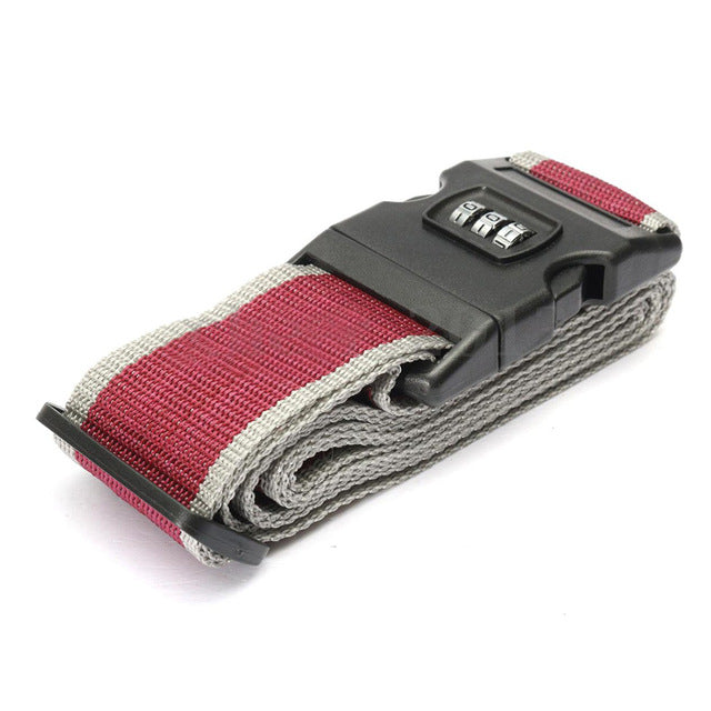 Lockable Luggage Strap Dark Red
