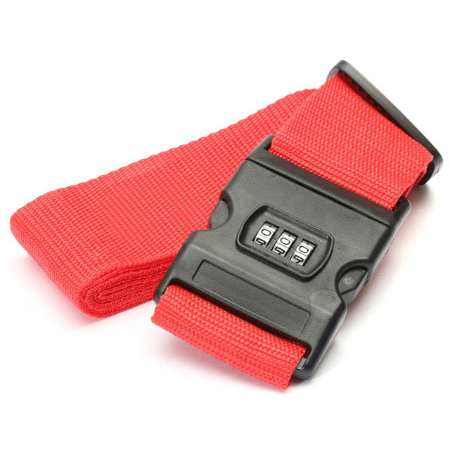 Lockable Luggage Strap Red