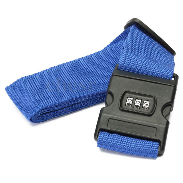 Lockable Luggage Strap Blue