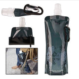 Collapsible Travel Water Bottle Full And Empty