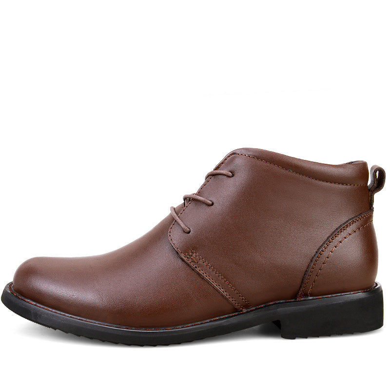 Genuine Leather Chukka Boot Brown