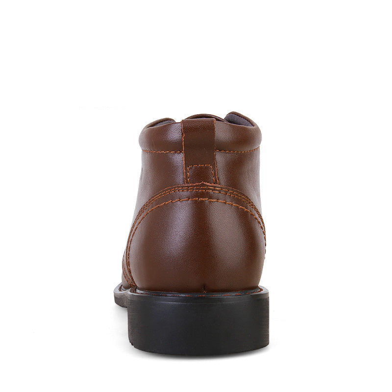 Genuine Leather Chukka Boot Brown Back