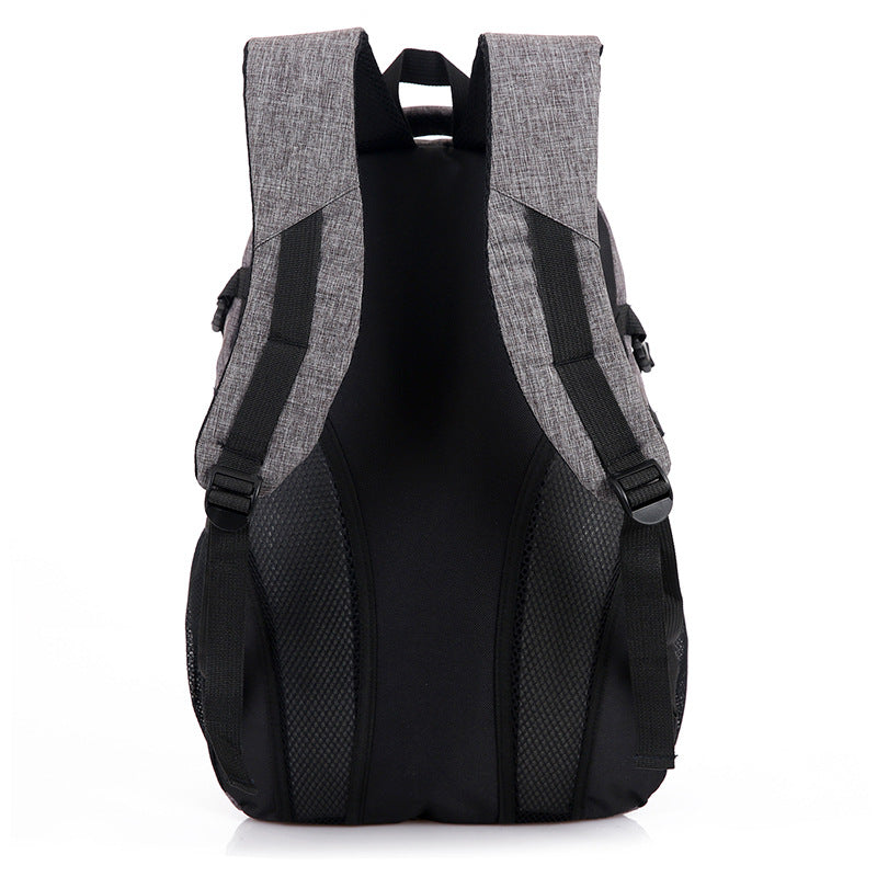Computer Backpack Grey Shoulder Straps