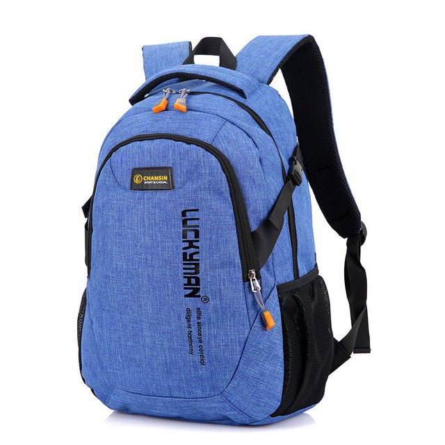 Computer Backpack Light Blue