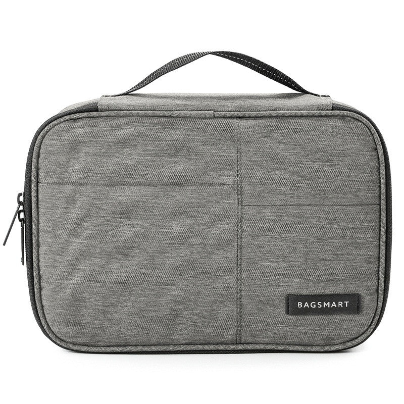 Waterproof Digital Accessories Travel Bag Grey