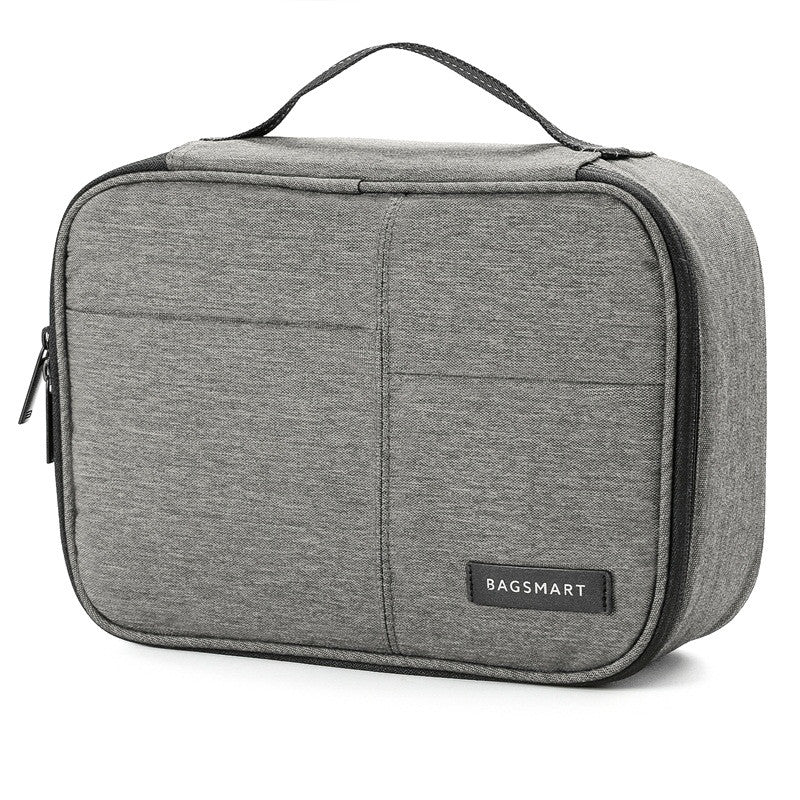 Waterproof Digital Accessories Travel Bag Grey Angle