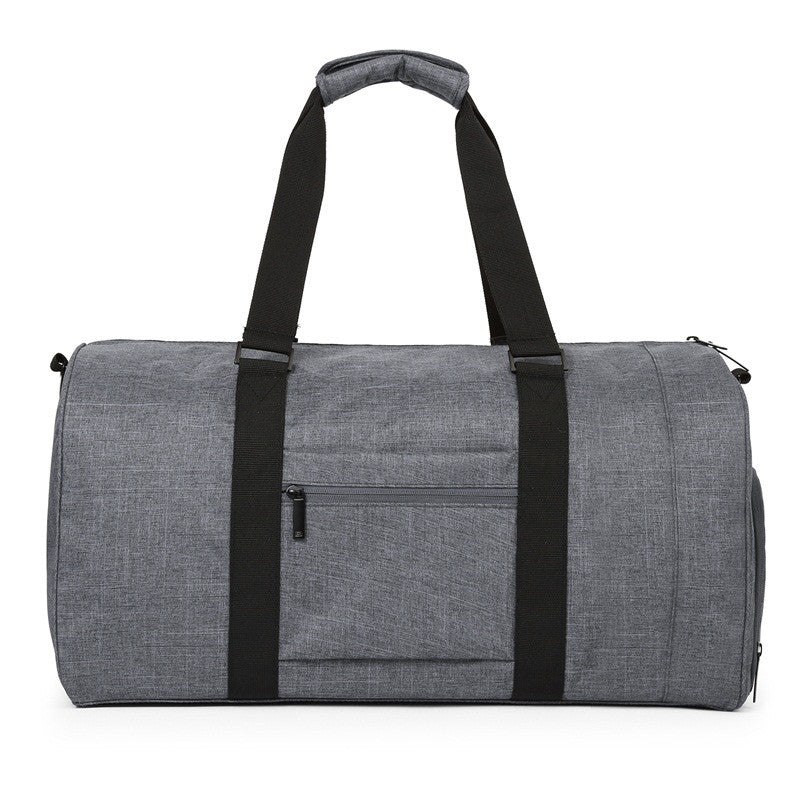 Nylon Travel Duffle Grey With Zipper Pocket