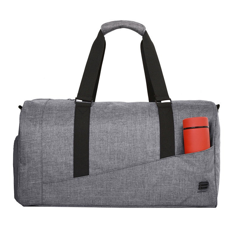 Nylon Travel Duffle Grey With Water Bottle In External Pocket
